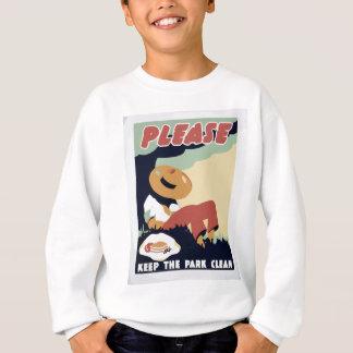 Maintenez le parc propre sweatshirt