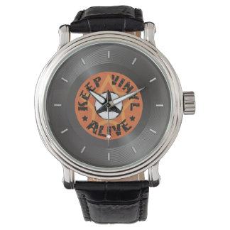 Maintenez le vinyle vivant montres bracelet