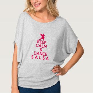 MAINTENEZ T-shirt CALME ET de DANSE de SALSA