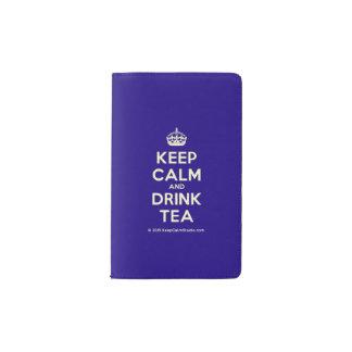Maintenez thé calme et de boissons carnet moleskine de poche