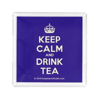 Maintenez thé calme et de boissons plateau en acrylique