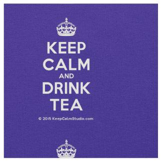 Maintenez thé calme et de boissons tissu