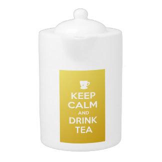Maintenez théière calme et de boissons de thé