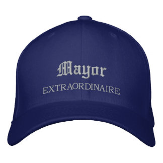 Maire Extraordinaire Embroidered Hat Casquette De Baseball Brodée