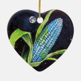 Maïs de planète ornement cœur en céramique