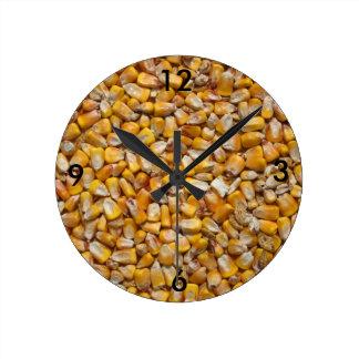 Maïs jaune horloge ronde