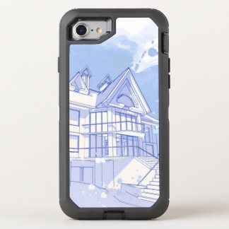 maison : aspiration d'aquarelle coque otterbox defender pour iPhone 7