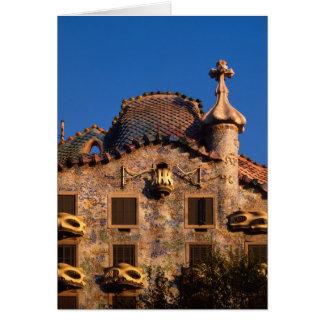 Maison Batilo, architecture de Gaudi, Barcelone, Carte