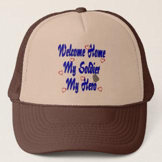 Maison bienvenue mon soldat mon héros casquette