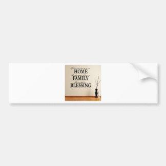 Maison + Famille = bénédiction Autocollant De Voiture