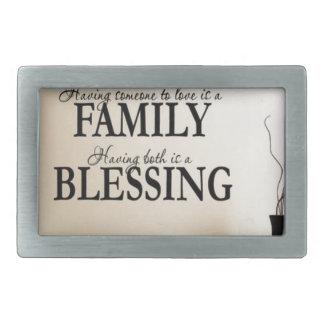 Maison + Famille = bénédiction Boucles De Ceinture Rectangulaires