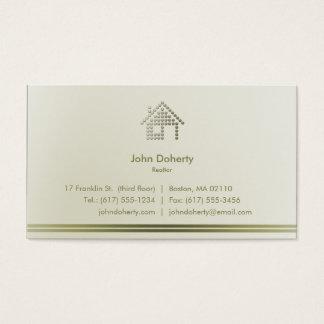 Maison moderne de l'agent immobilier   cartes de visite