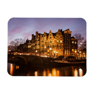 Maisons de canal d'Amsterdam à l'aimant Magnet Flexible