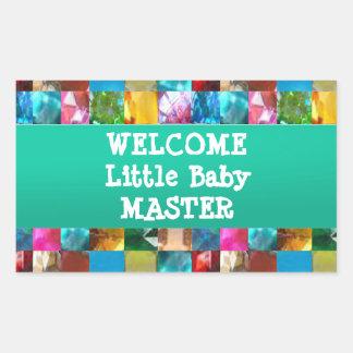 Maître bienvenu de BÉBÉ Sticker Rectangulaire