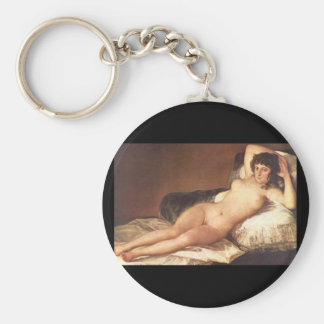 Maja', nu Francisco de Goya_Portraits Porte-clé Rond