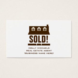Makelaar in onroerend goed - het Bruine Huis van Visitekaartjes