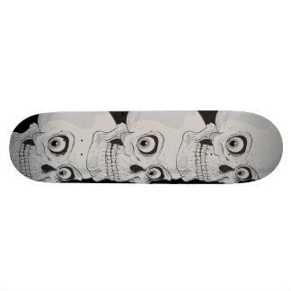 Mal grimaçant les crânes gothiques skateboard old school  21,6 cm