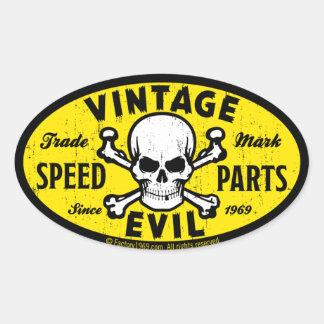 Mal vintage 007A Sticker Ovale