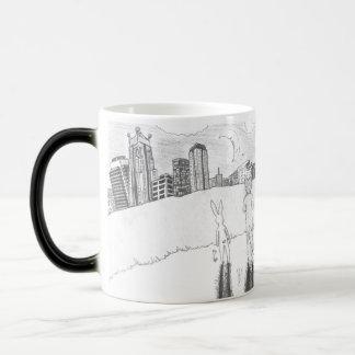 Malchance dans la tasse magique de ville