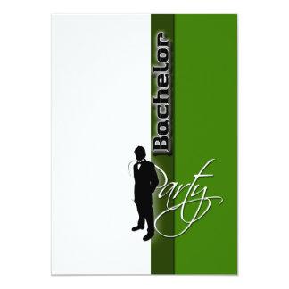 """Mâle formel de """"enterrement de vie de jeune carton d'invitation  12,7 cm x 17,78 cm"""