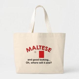 Maltais beau sac en toile jumbo