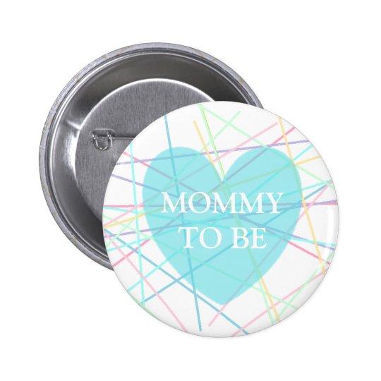 Maman à être lignes bouton de pastel de baby badge rond 5 cm