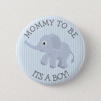 Maman à être Pin rayé bleu de baby shower Badge Rond 5 Cm
