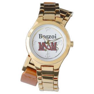 Maman de barzoï montres bracelet