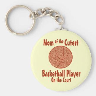 Maman de basket-ball porte-clé rond