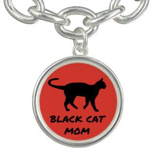 Maman de chat noir bracelets