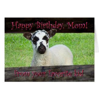 Maman de joyeux anniversaire de votre enfant carte de vœux