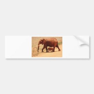 Maman et CUB d'éléphant Autocollant De Voiture