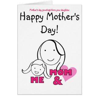 MAMAN et MOI - salutations du jour de mère de Carte De Vœux