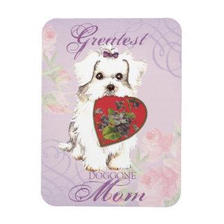 Maman maltaise de coeur magnet flexible