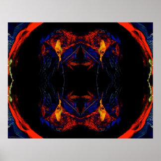 """""""Mandala 1"""" d'automne art psychédélique d'esprit d Poster"""