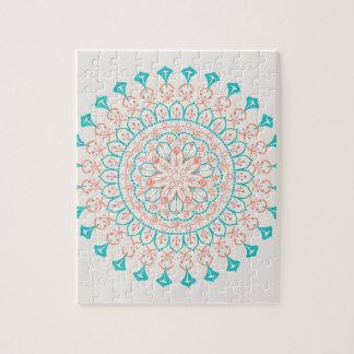 Mandala abstrait de couleurs en pastel puzzle