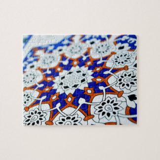 Mandala bleu puzzle