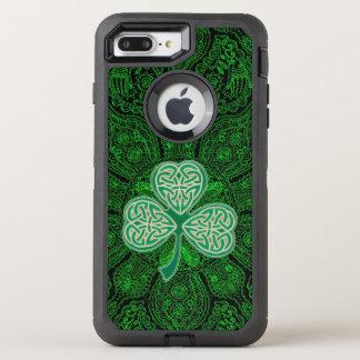 Mandala celtique vert Otterbox de trèfle Coque OtterBox Defender iPhone 8 Plus/7 Plus