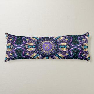 Mandala de Capricorne de signe de zodiaque Coussins Longs