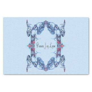 Mandala de colombe d'amour de joie de paix modelé papier mousseline