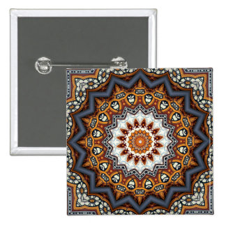 Mandala de kaléidoscope au Portugal : Motif 224,11 Badge Carré 5 Cm