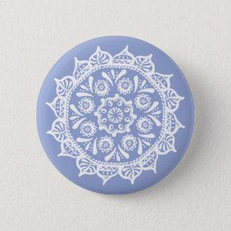 Mandala de myrtille badge rond 5 cm