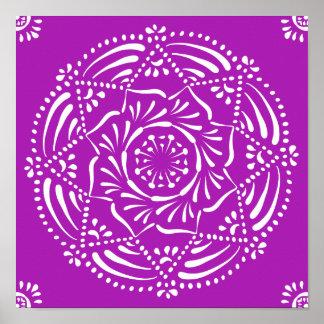 Mandala de Nudibranch Poster