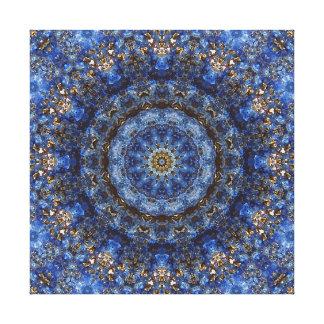 """Mandala """"de stratifié de lazulite de Lapis"""" Toile"""