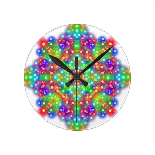 Mandala d'expression de joie horloge ronde