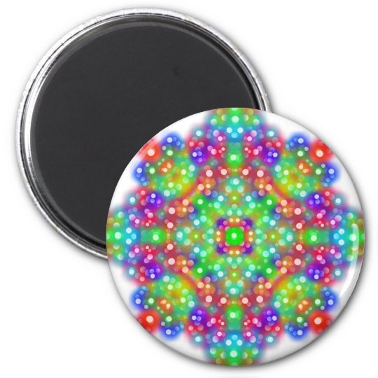 Mandala d'expression de joie magnet rond 8 cm