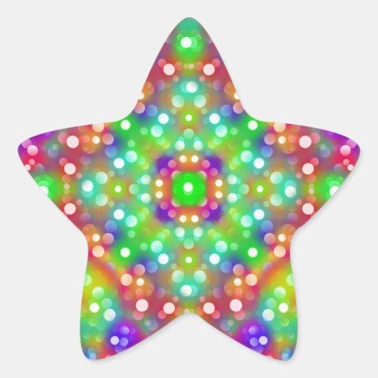 Mandala d'expression de joie sticker étoile
