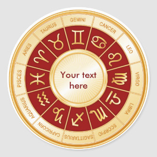 Mandala d'horoscope sticker rond