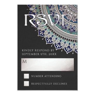 Mandala élégant épousant des cartes de RSVP