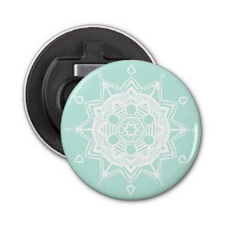 Mandala en verre de mer décapsuleur